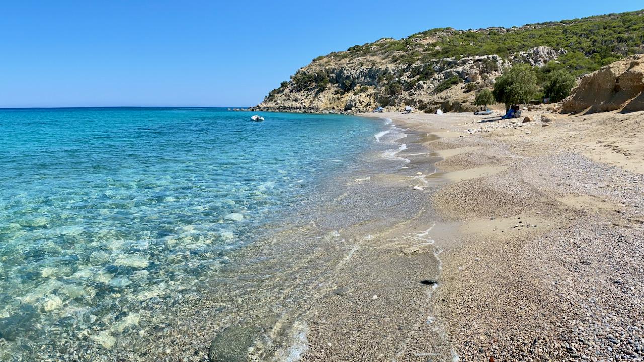 Camping auf Gavdos am Strand