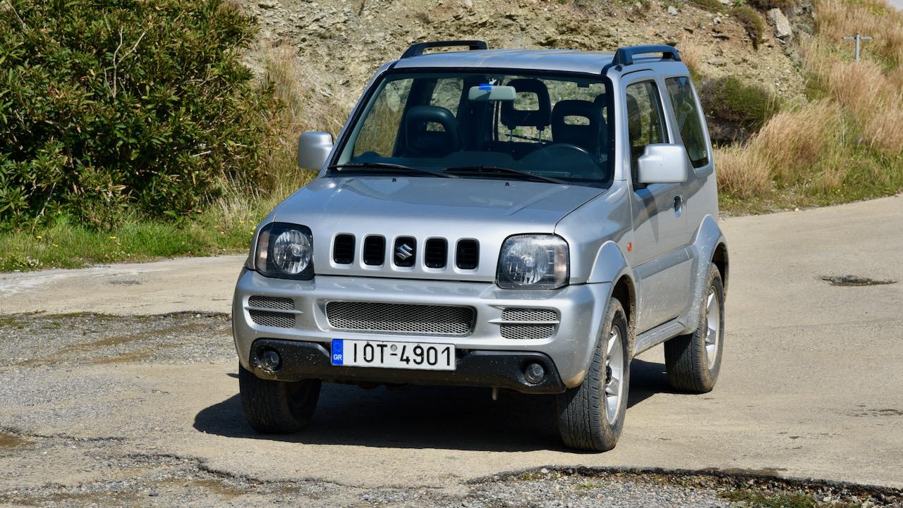 Die Autovermietung auf Gavdos hat auch einen Suzuki Jimny